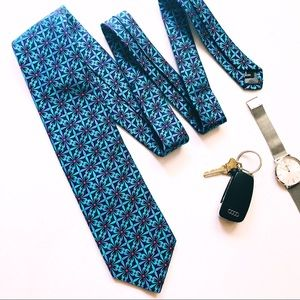 Robert Talbott Best of Class turquoise floral Tie